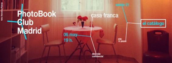 anuncio para la  sesión 21 del PhotoBook Club Madrid